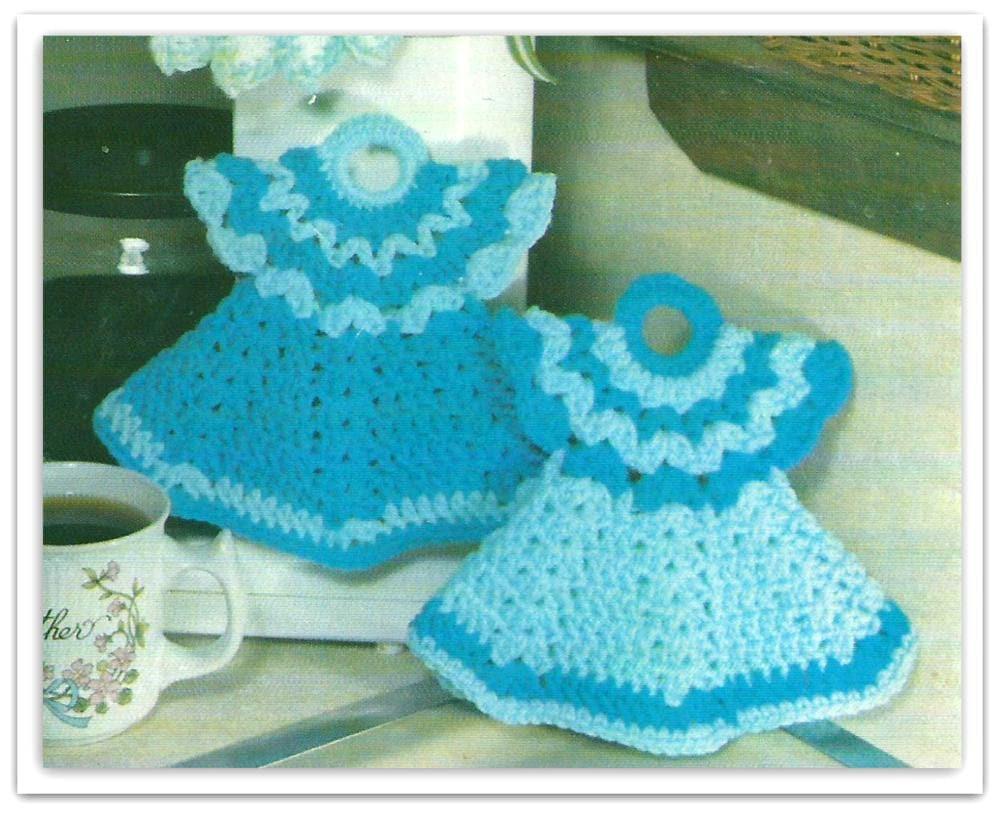 Crochet Doll Dress Potholder Pattern PDF 03431209