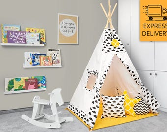 Tipi Set - Kids Play Tent Teepee - Busy Bee