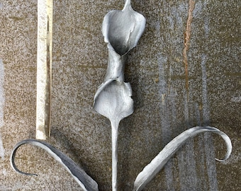 Hand forged wrought iron  Jack in the Pulpit Lilly
