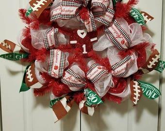 Alabama Crimson Tide Jersey Wreath