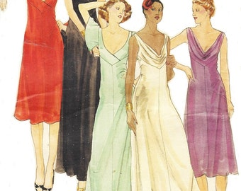 70s John Kloss Sexy Plunging Neckline Evening Gown Butterick Sewing Pattern 5118 Size 12 Bust 34 Vintage Sewing Patterns