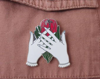 Protea Flower Hard Enamel Pin