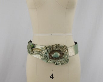 1980's NINA ARJANI Leather Designer Belt