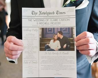 Wedding newspaper | Etsy