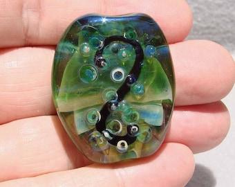 VERDISSIMO Handmade Lampwork Art Glass Focal Bead - Flaming Fools Lampwork Art Glass  sra