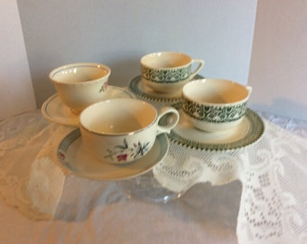 Vintage Tea Cups --- Assorted Set of 4-- Tea Party, Wedding, Shabby Chic