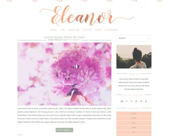 Eleanor Responsive Blogger Theme - Premade Blogger Theme