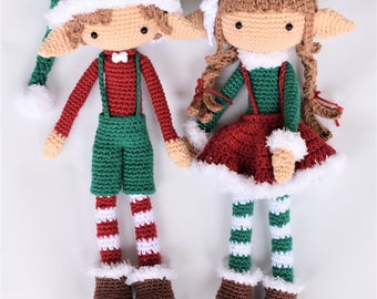 Jingle and Bell the Christmas Elves / Amigurumi / Photo Tutorial