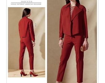 Vogue Pattern V1560 Misses' Open, Loose Jacket and Slim Pants