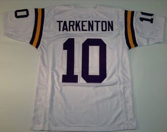 Minnesota Vikings Fran Tarkenton UNSIGNED CUSTOM Made White Jersey