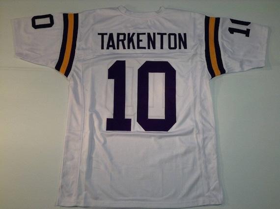 Minnesota Vikings Fran Tarkenton UNSIGNED CUSTOM Made White Jersey s8yGHF