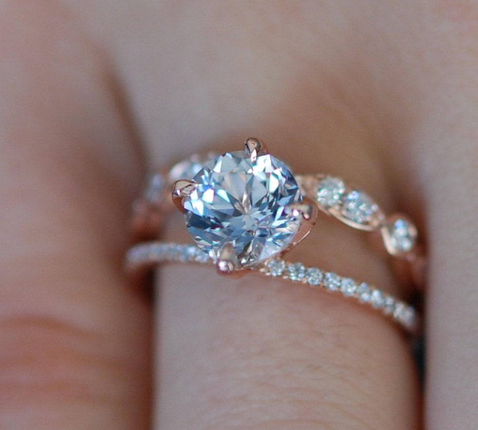 band products diamond ken nature design inspired april engagement round two f oval ct dana hana unique rings double micropave