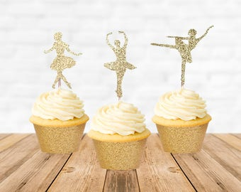 Ballerina Cupcake Topper, Ballerina Cake Topper, Ballerina Party, Ballerina Birthday, Ballerina Baby Shower, Cupcake Picks Decorations
