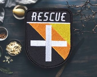 "Rescure Medic Patch | Sew On | Embroidered | Patches for Jackets | 3"" (Free Shipping US)"
