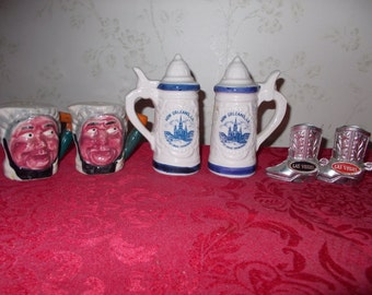 Vintage Trio Set of Salt & Pepper Shakers