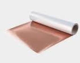 Rose Gold Metallic htv, Rose Gold Stretch Metallic htv - Light Copper Stretch Metallic HTV