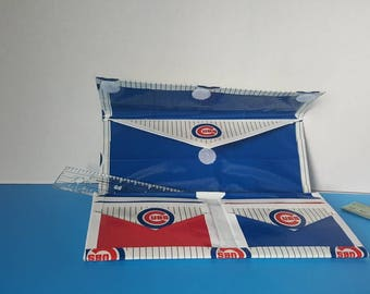 Women's tri-fold MLB Chicago Cubs Duct Tape Wallet