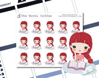 Planner Stickers Doodle Girl Planning - Erin Condren Life Planners - NC60