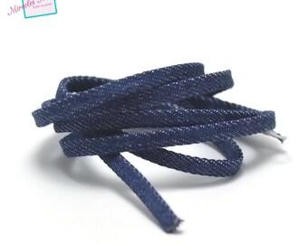 1 m cord/thong John 5 x 2 mm, dark blue uni