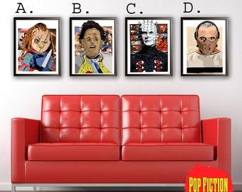 Horror, Chucky,Leatherface,Hellraiser,Hannibal,Pinhead,Art, Canvas,Canada,Pop Fiction
