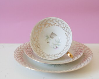 Beautiful vintage builds with coasters and saucer
