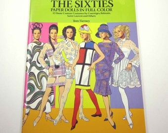 Great Fashion Designs of The Sixties Vintage Uncut Dover Paper Doll Book by Tom Tierney