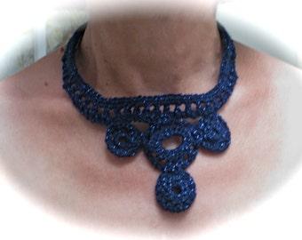 Necklace, Crochet,  Handmade, Ponte Vecchio