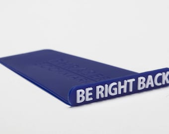 "Phraser Bookmark - ""Be Right Back"" // Blue // Books Lovers Gift // Designed Art // Cool gift // Unique Book Accessories // by ArtoriDesign"