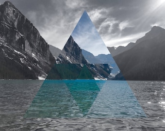 Lake Louise Geometric Photographic Print