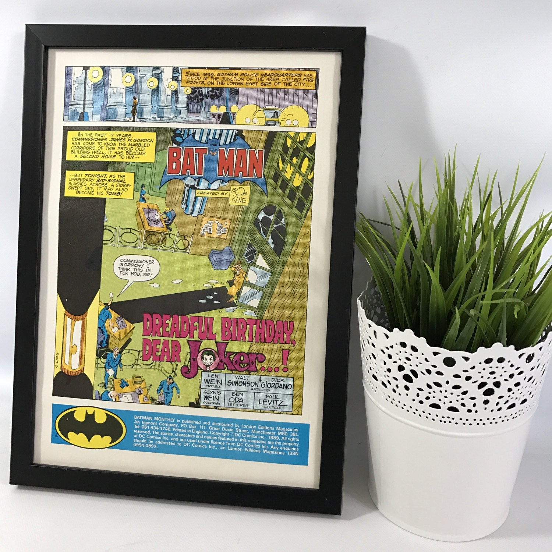 Retro frame decor batman comic 1980s magazine wall art zoom jeuxipadfo Images