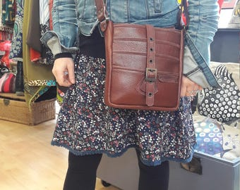 Bag-shoulder bag, for man and woman 100% leather and hand-made