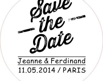 Save the date stamp, Save Date Stamp, Wedding Stamp, Custom Wedding Stamp, Custom Rubber Stamp, Wedding Rubber Stamp, Address Stamp, ( F )