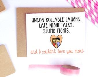 Funny Valentine Card, Cute Valentine Card, Valentine's Day Cards, Boyfriend Cards, Card For Husband Cute