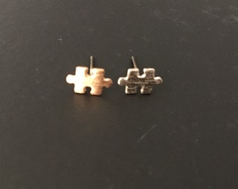 Puzzle piece earrings // autism awareness