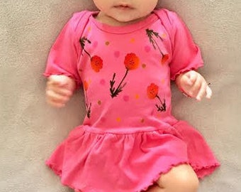 Baby Girl Poppy Dress Hand Made Baby Shower Girl Infant One Piece Dress