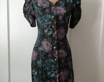 Vintage Floral Sheath Dress