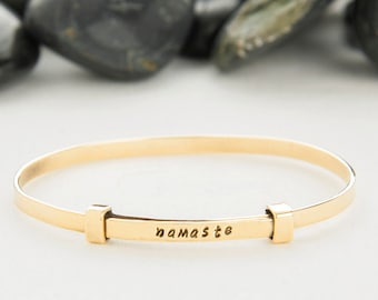 Namaste Bracelet, Namaste Jewelry, Namaste, Yoga Bracelet, Yoga Jewelry, Meditation Jewelry, Yoga Gift, Inspirational, Yoga,  b252BR