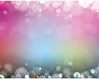 FREE EXPEDITED SHIPPING And Insurance ! New 8' x 5' Multicolor Bokeh Design Floordrops / Vinyl Photography Backdrops for Product Photos