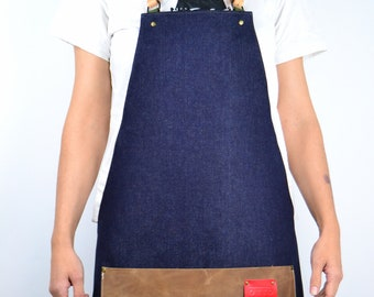 MEZZ Denim Leather Apron