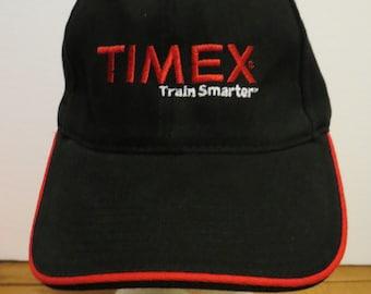 TIMEX Train Smarter Cap Hat Black trucker Snapback