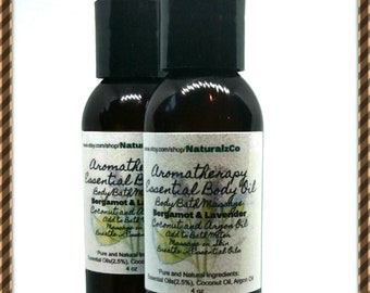Aromatherapy Body Oil | Lavender and Bergamot | Coconut Oil | Body | Bath | Massage | Moisturizing Body | Essential Oils | Relax | Spa
