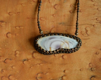 Imperial Jasper Embroidered Necklace