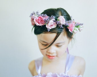 Wisteria & Lavender Tutu Dress- Purple Dress- Lavender Flower Girl Dress
