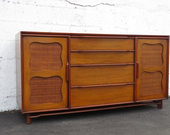 Mid Century Modern Server TV Console Buffet by Stiehl Furniture 8649