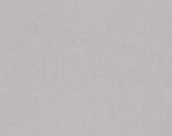 Ash Kona Cotton, Gray Fabric, Robert Kaufman Fabric, Half Yard