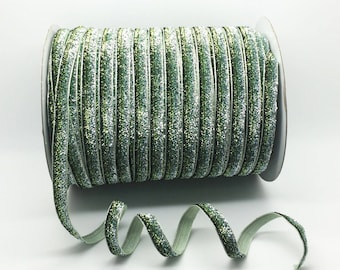 4 meter of mint green sparkly glittery Ribbon
