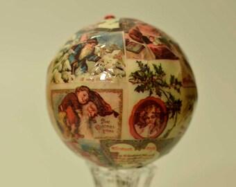 Vintage,Paper mache Ornament,Vintage Ornament,Christmas Ornament