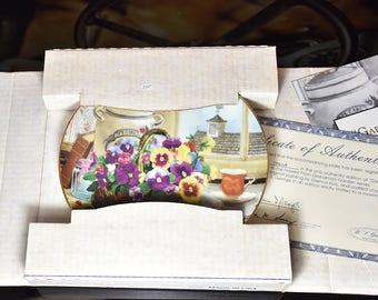 Vintage Plate W.S. George Gardener's Delight Flowers 1991
