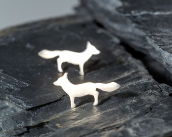 Silver Fox Earrings Animal Studs Sterling Silver Woodland Jewelry Vixen gift teen mom mothers day friendship kids girlfriend
