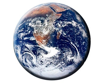 EARTH MAGNET Earth from Space 2.25 inch Large Flat-Backed Fridge Magnet